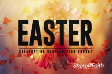 Abstract Ball Easter Welcome Video
