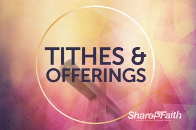 Abstract Clouds and Cross Religious Tithes and Offerings Video