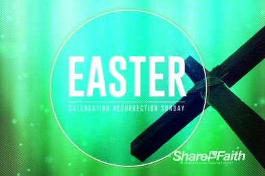 Abstract Cross Easter Welcome Video