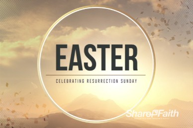 Abstract Mountain Easter Welcome Video