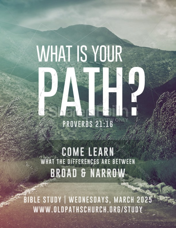 What is Your Path Christian Flyer | page 1