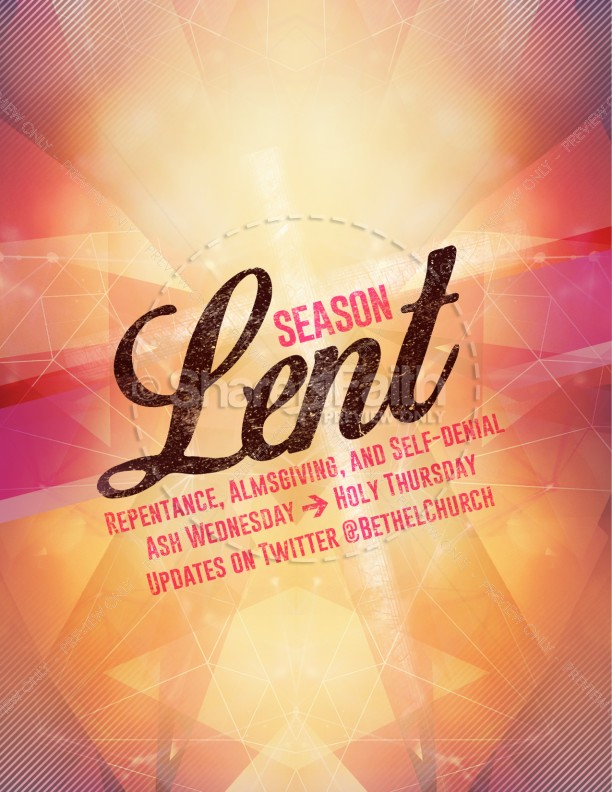 Season of Lent Religious Flyer