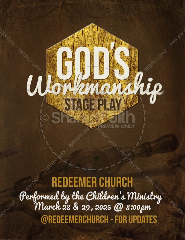 Gods Workmanship Religious Flyer Template Flyer Templates