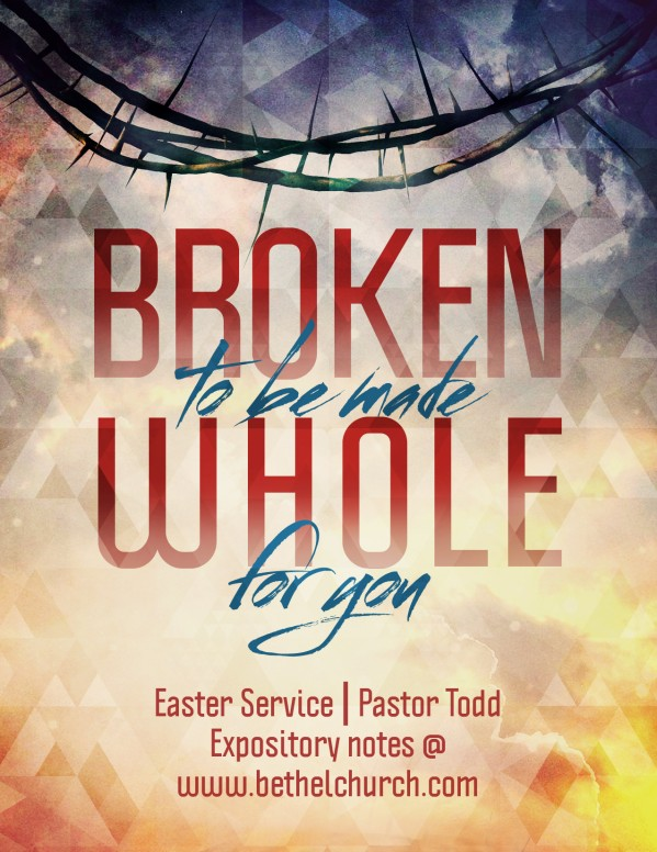 Broken for You Ministry Flyer