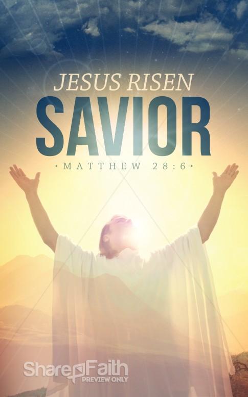 Jesus Risen Savior Christian Bulletin Easter Bulletins