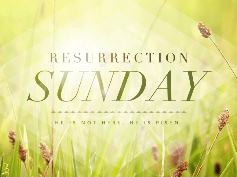Resurrection Sunday He is Risen Easter PowerPoint Graphics