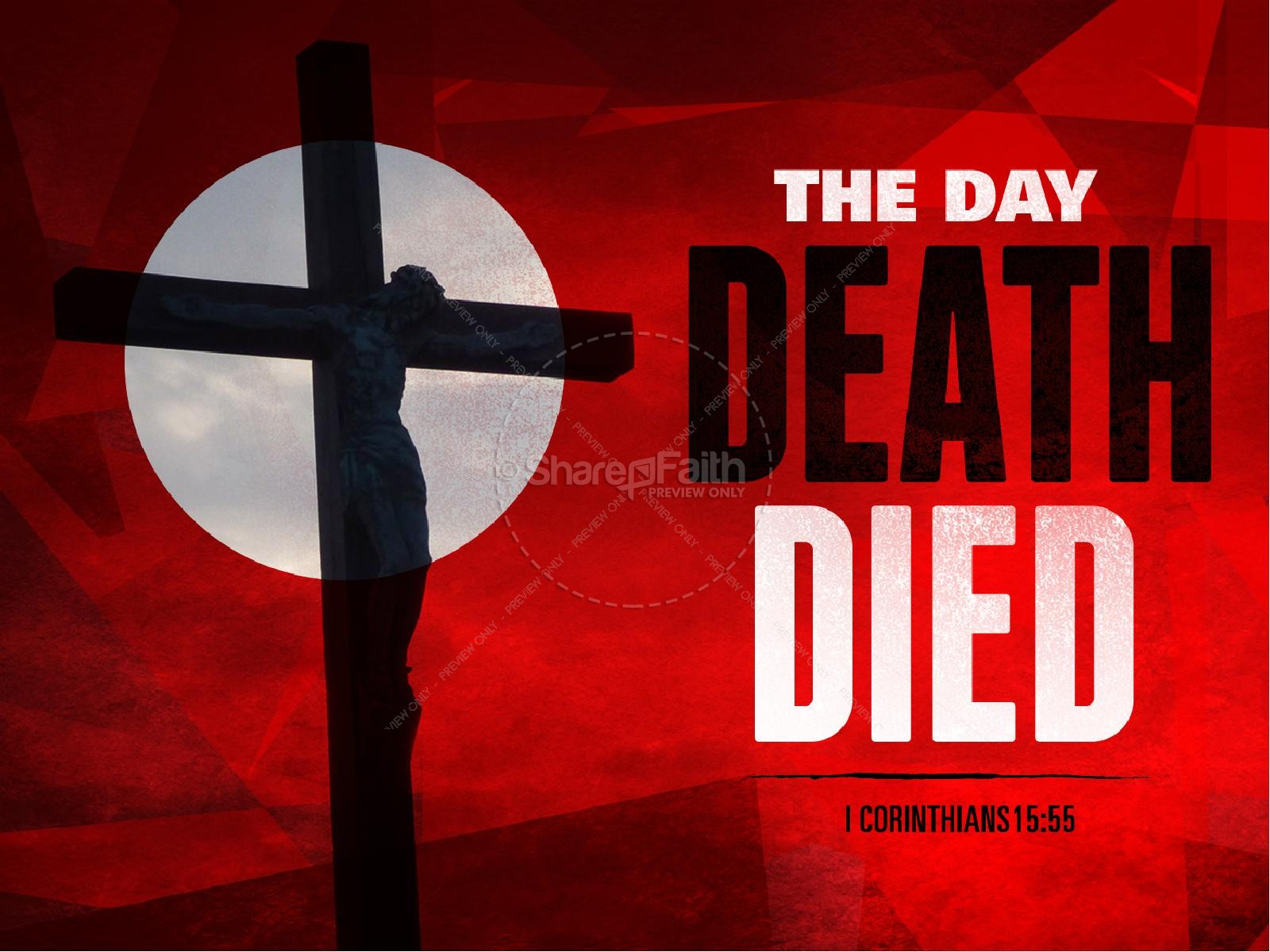 The Day Death Died Easter Graphics