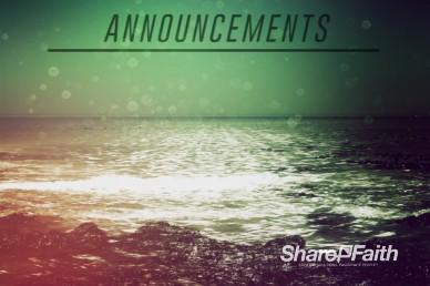 Faith Through Tides Christian Announcements Video Loop
