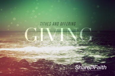 Faith Through Tides Christian Tithes and Offerings Video Loop