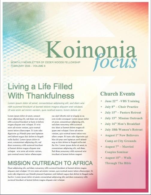 Ash Wednesday Lent Religious Newsletter