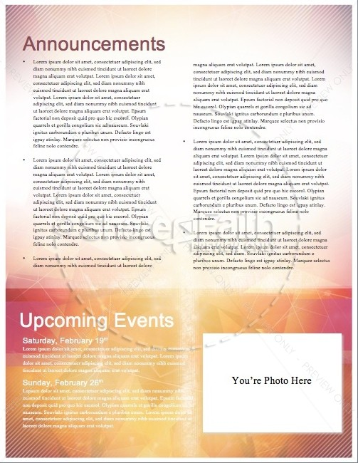 Season of Lent Religious Newsletter