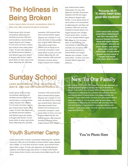 Palm Sunday Minstry Newsletter