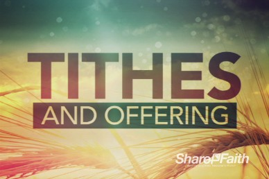 In Remembrance of Me Tithes and Offerings Video Loop