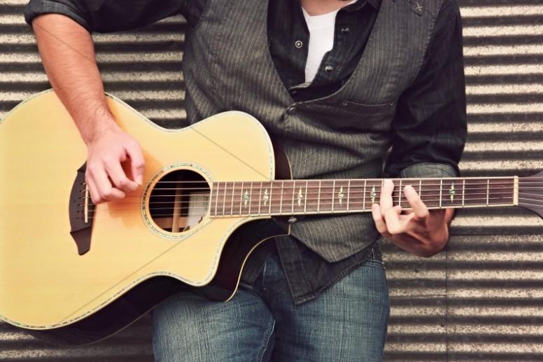 Guitar Guy Christian Stock Photo