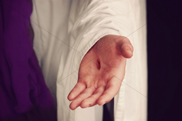 Jesus Scarred Hand Ministry Stock Image