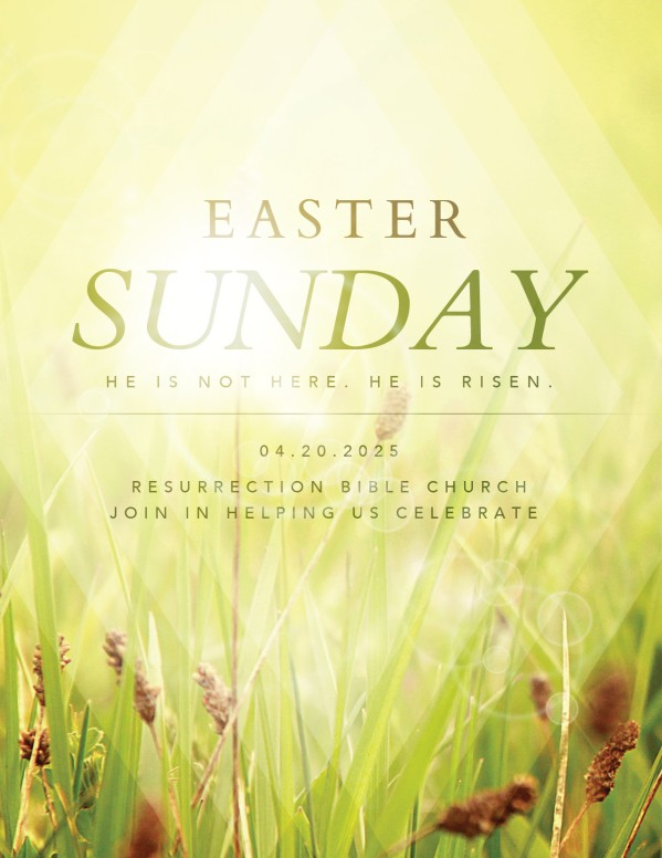 Resurrection Sunday He is Risen Christian Flyer