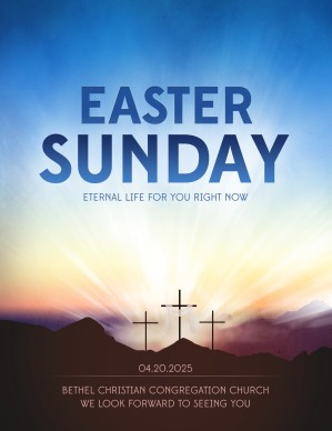 religious flyers template free - resurrection sunday ministry flyer template flyer templates