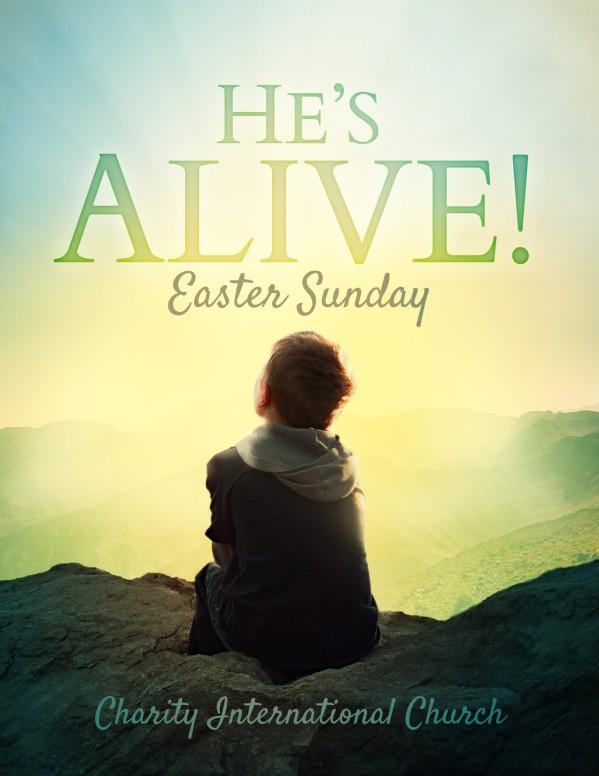 Resurrection Sunday Alive Religious Flyer