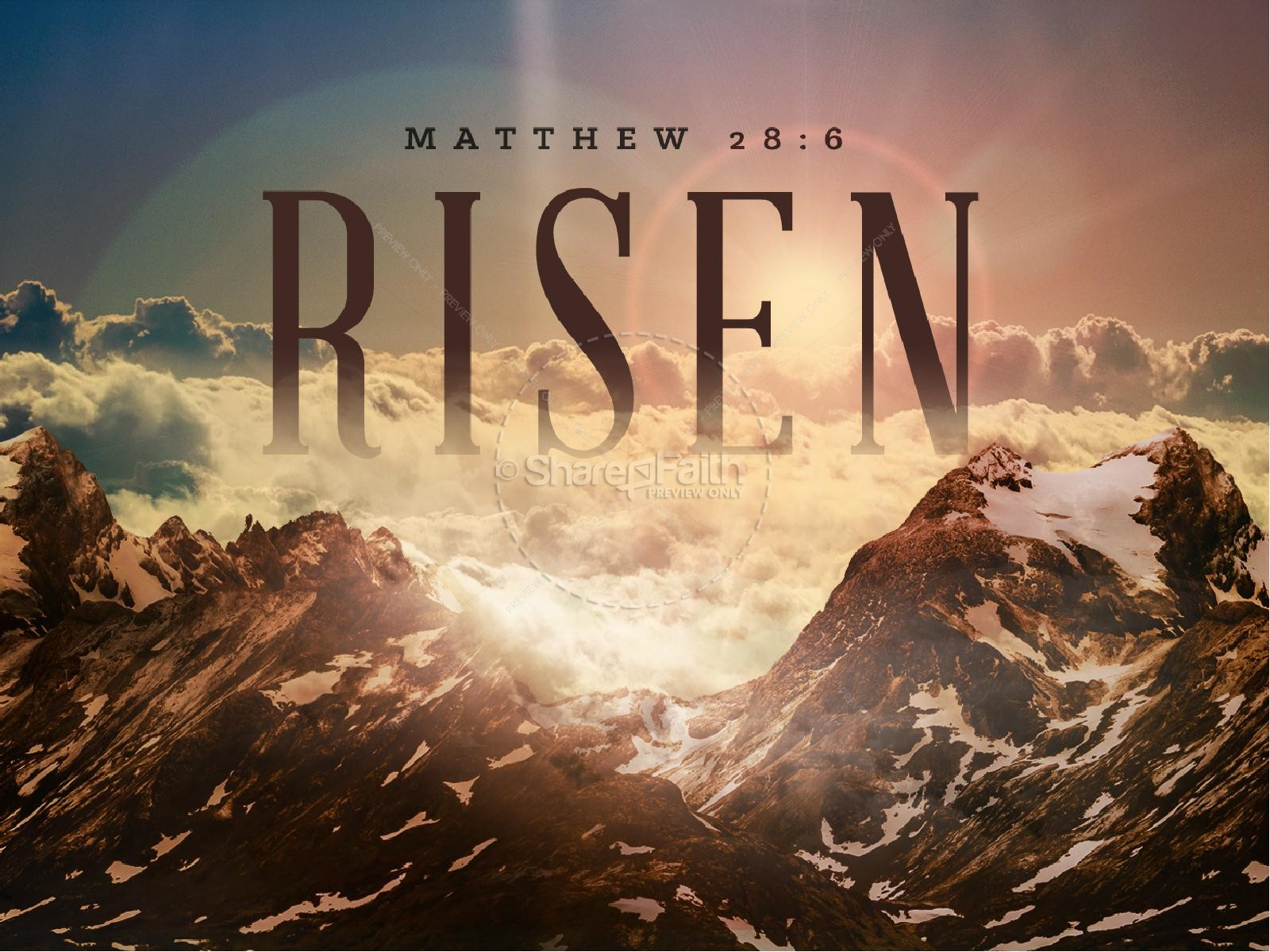 He Is Risen Indeed Christian Powerpoint
