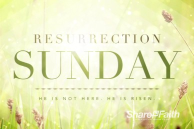 Resurrection Sunday He is Risen Church Intro Video Loop