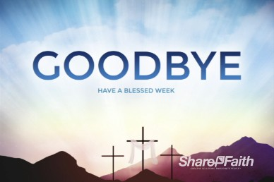 Resurrection Sunday Easter Goodbye Video Loop