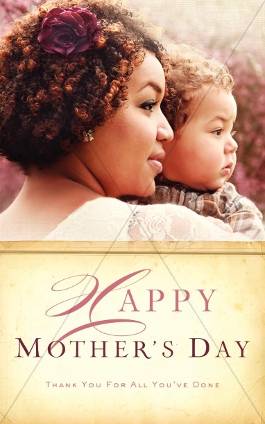 Thank You for All You've Done Mother's Day Ministry Bulletin