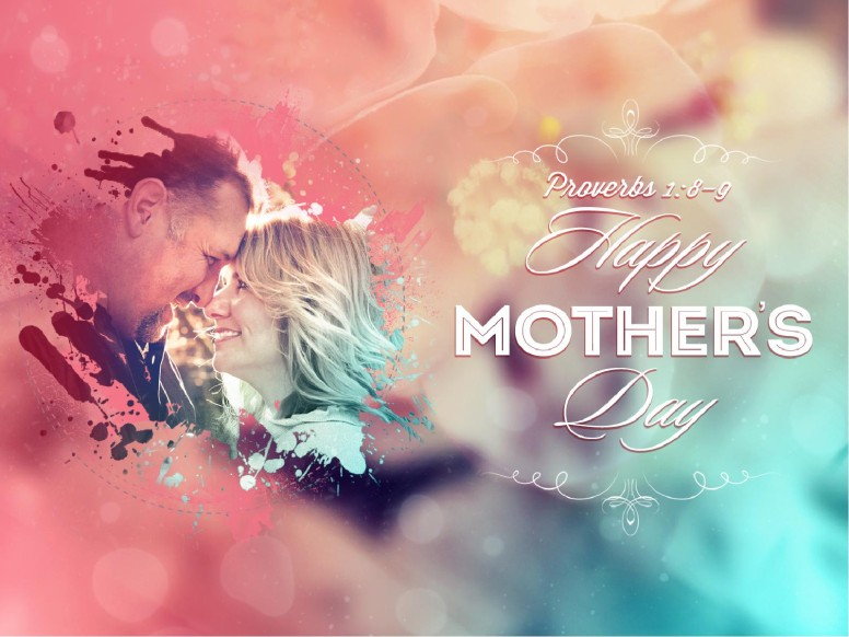 Splash of Love Mother's Day PowerPoint Template