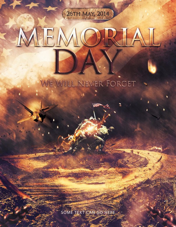 Never Forget Memorial Day Christian Flyer