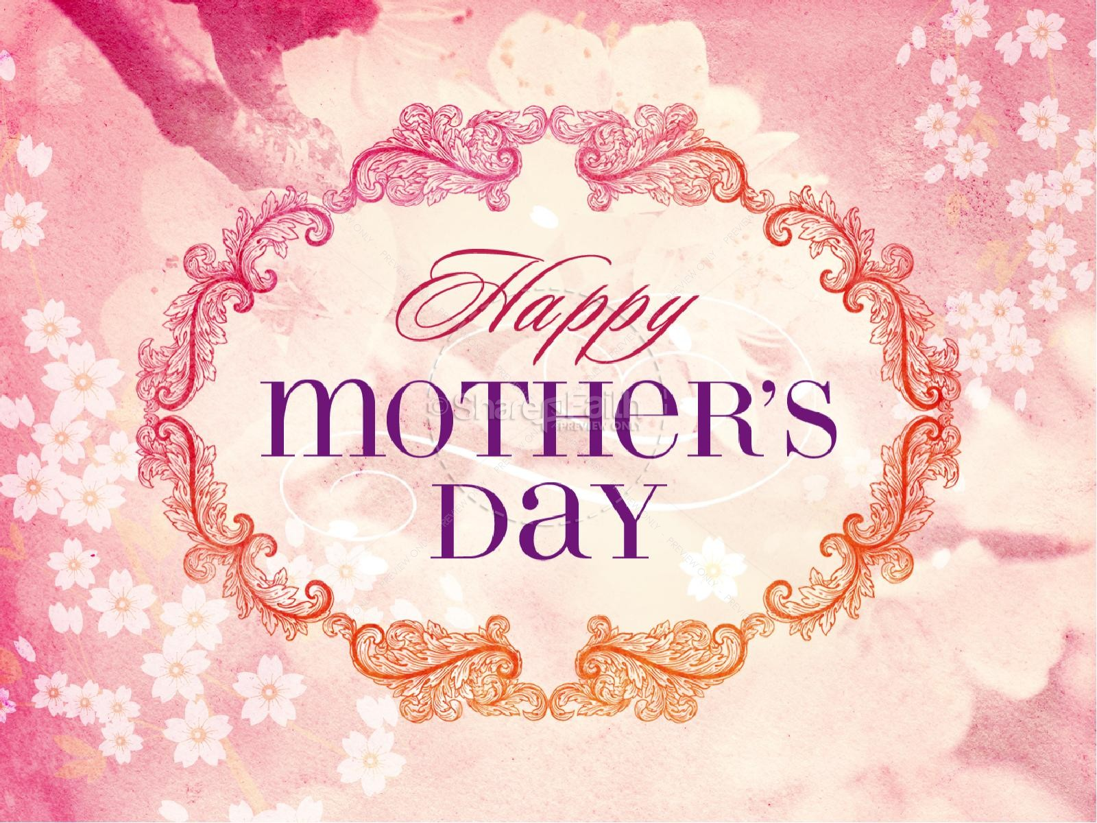 Happy Mother's Day Christian PowerPoint Template