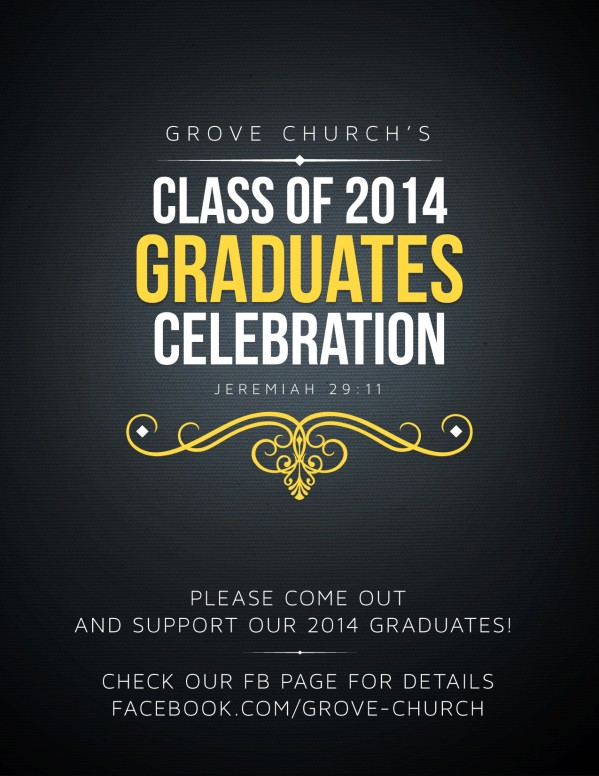 Graduation Party 2014 Event Religious Flyer