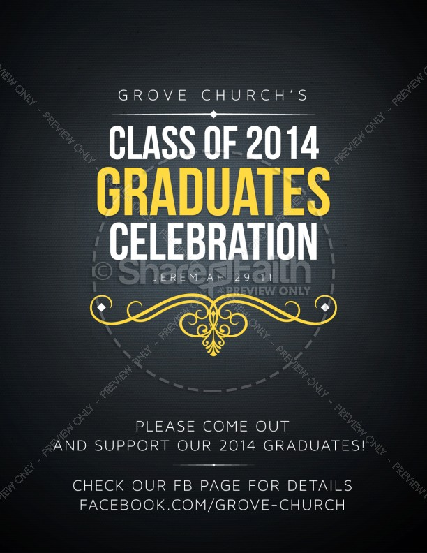 Graduation Party 2014 Event Religious Flyer Template