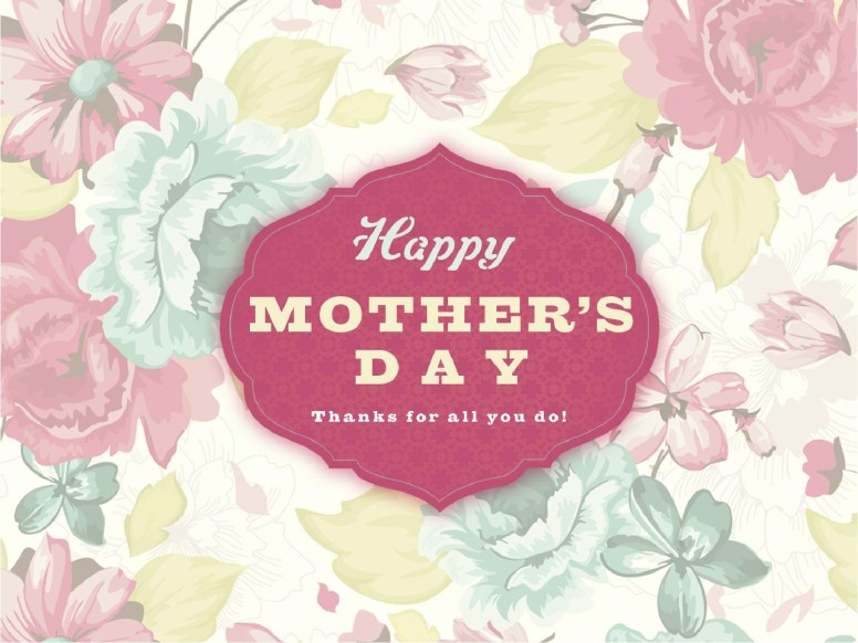 Happy Mother's Day Floral Mother's Day Graphics