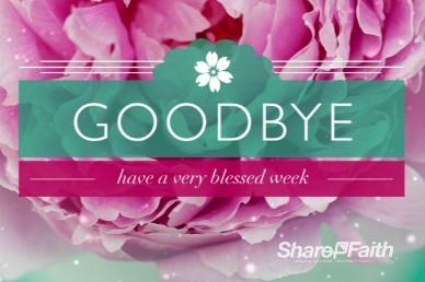 Goodbye Church Service Ending Video Loop Rose Floral