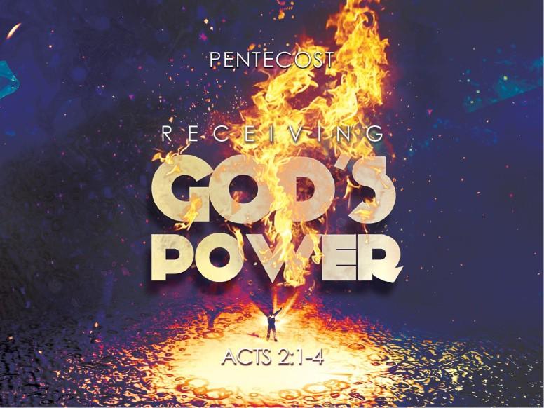 Pentecost Holy Spirit Fire Sermon Graphics