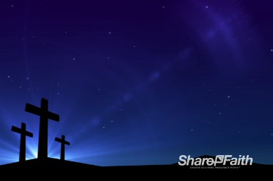 Abstract Cross Cobalt Worship Video Loop