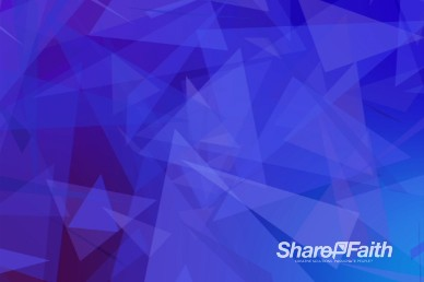 Abstract Triangles Cobalt Christian Motion Background Video