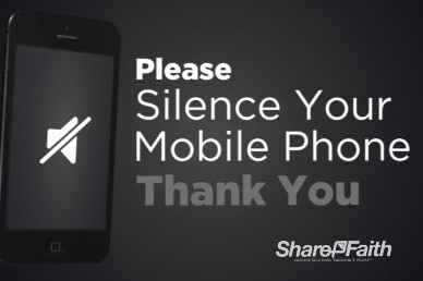 Silence Your Phone Welcome Video Loop iPhone