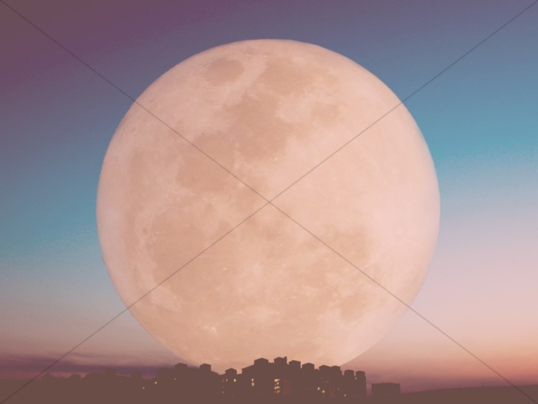 Large Moon Christian Stock Image