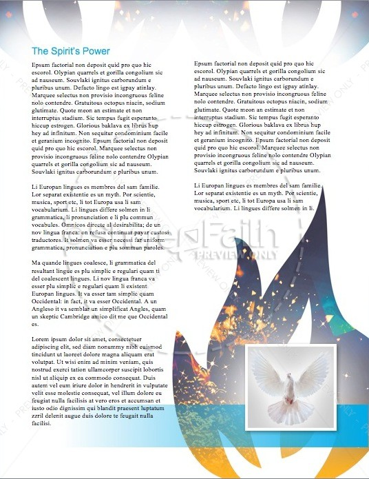 Day of Pentecost Spring Christian Newsletter Template | page 3