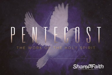 Pentecost Holy Spirit Dove Video Motion Loop