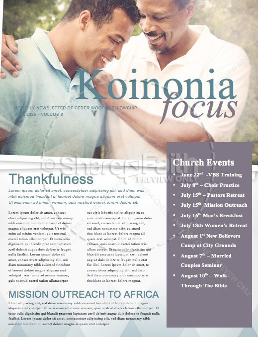 A Father of Faith Christian Newsletter Template