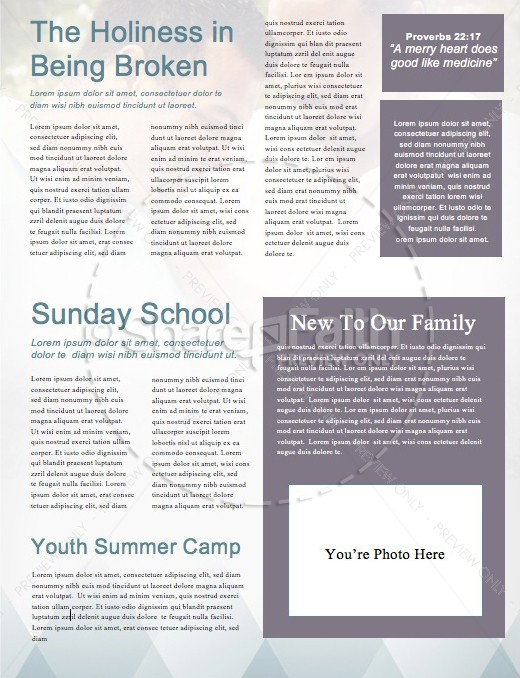 A Father of Faith Christian Newsletter Template | page 2