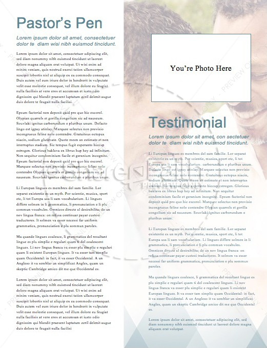 A Father of Faith Christian Newsletter Template   page 3