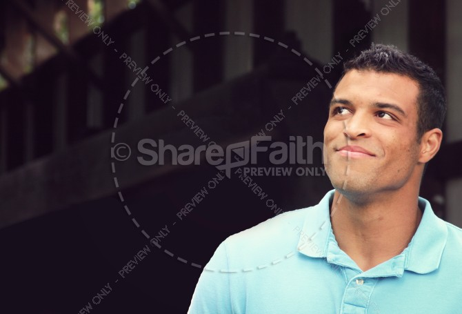 A Father of Faith Christian Stock Photo