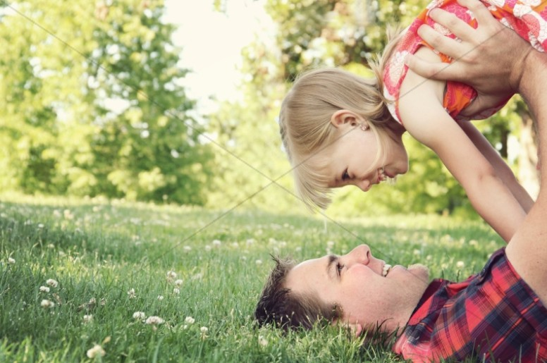 Daddy and Daughter Religious Stock Image