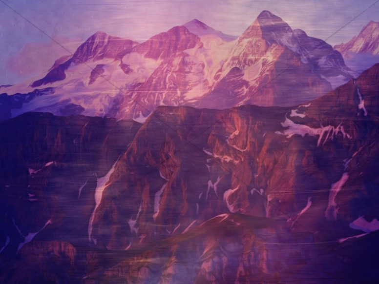 Purple Majesty Mountains Religious Stock Photography