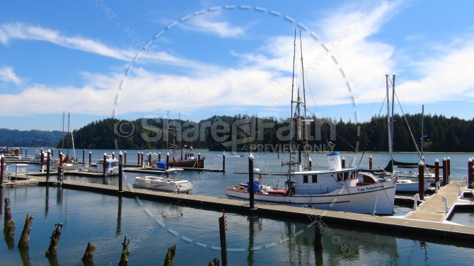 Boat Docks Landscape Ministry Stock Photo