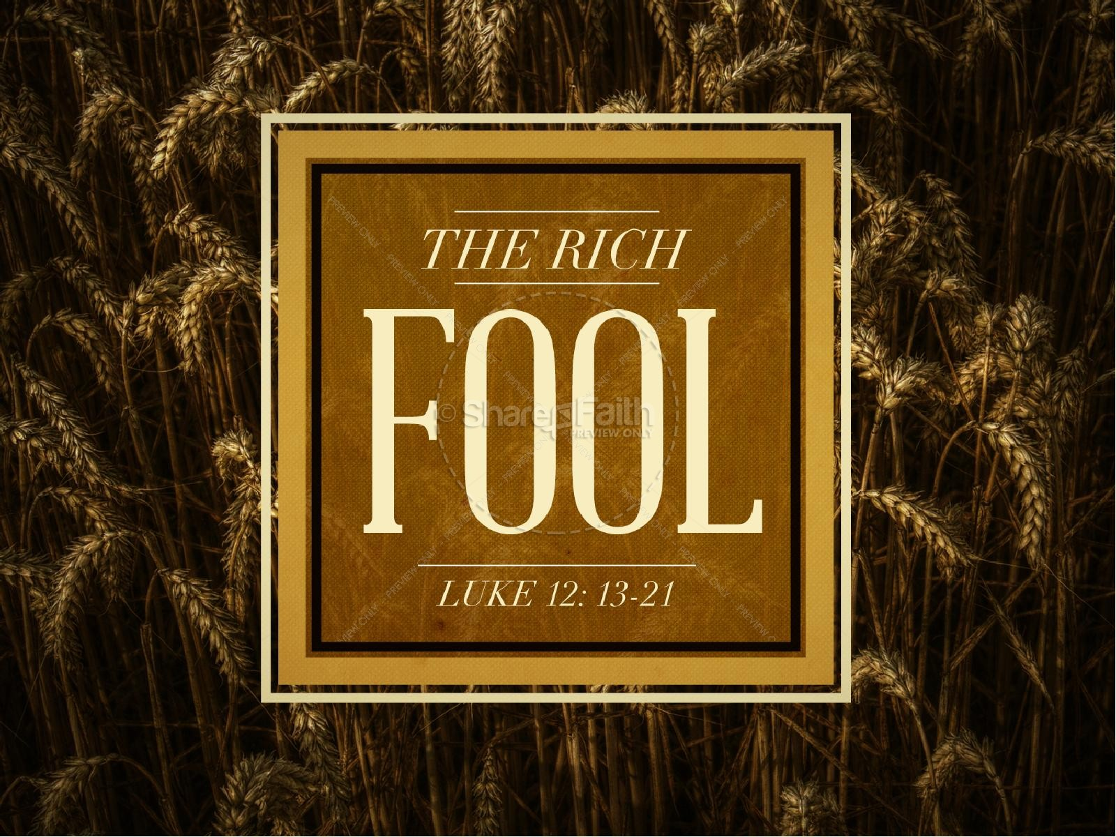 The Rich Fool Ministry PowerPoint | slide 1