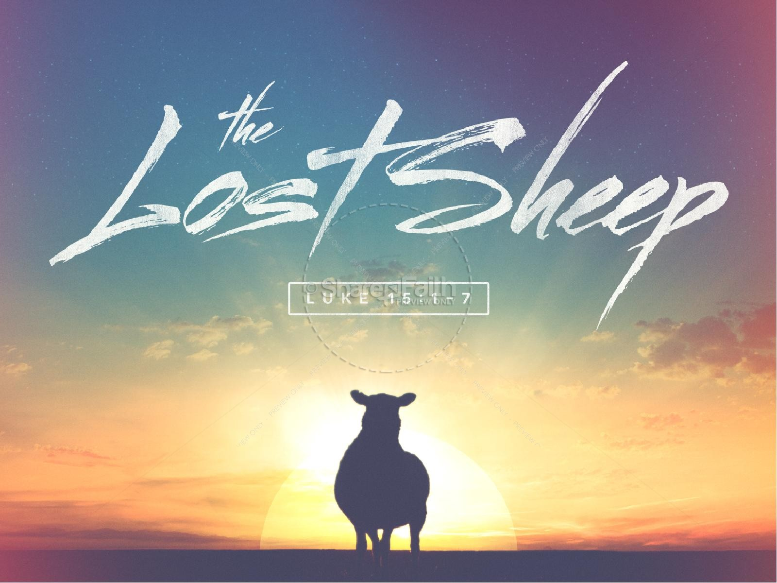 The Lost Sheep Christian PowerPoint  | slide 1