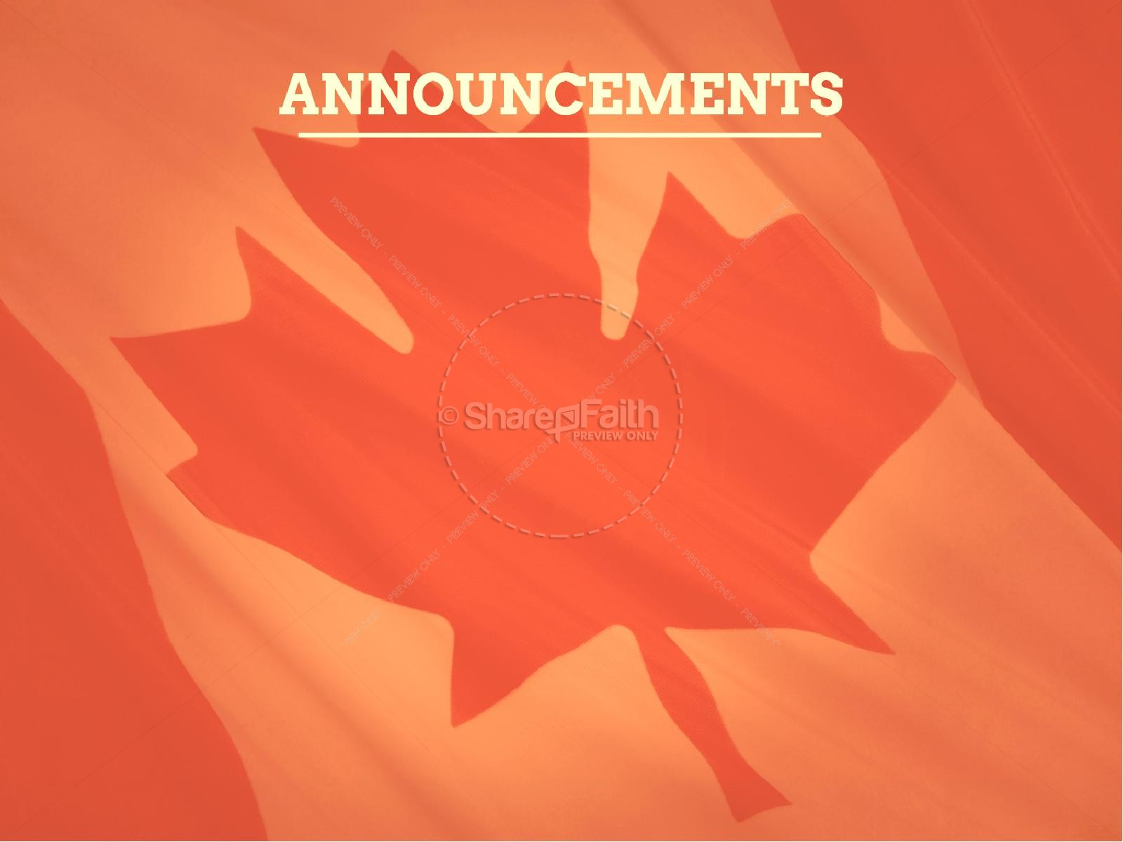 Happy Canada Day Ministry PowerPoint